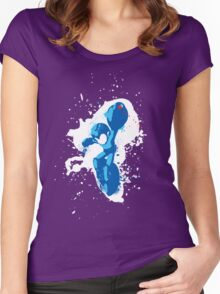Mega Man Splattery Shirt or Hoodie - Any Color Women's Fitted Scoop T-Shirt