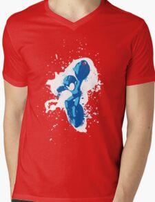 Mega Man Splattery Shirt or Hoodie - Any Color Mens V-Neck T-Shirt