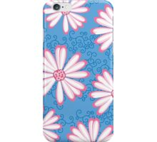 Baby Blue, Pink and White Daisy Pattern iPhone Case/Skin
