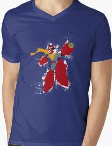 Protoman Splattery Shirt or Hoodie - Any Color Mens V-Neck T-Shirt