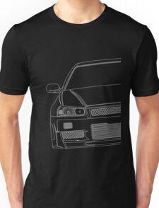 R34 outline - white Unisex T-Shirt