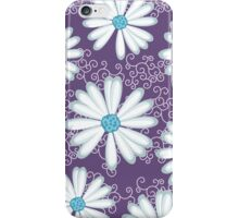 Sweet Purple and Turquoise Daisy Flower Pattern iPhone Case/Skin