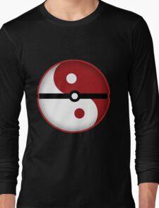 Pokeball + Ying & Yang Long Sleeve T-Shirt