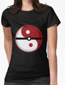 Pokeball + Ying & Yang Womens Fitted T-Shirt