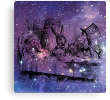 Mad Hatters Tea Party In Space Canvas Print