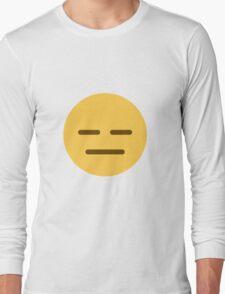 Expressionless face emoji Long Sleeve T-Shirt