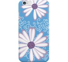 Blueberry Violet and White Daisy Flower Pattern  iPhone Case/Skin