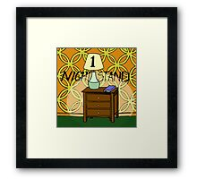 1 Nightstand Framed Print