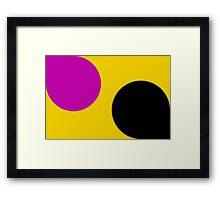 Florescent Yellow Pink Vector pattern  Framed Print