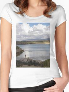 Keadue Bay, Donegal, Ireland  Women's Fitted Scoop T-Shirt
