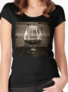 Cognac and Bamboo Women's Fitted Scoop T-Shirt