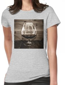 Cognac and Bamboo Womens Fitted T-Shirt
