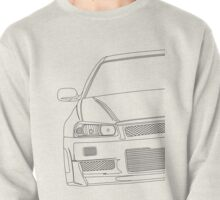 R34 outline - black Pullover