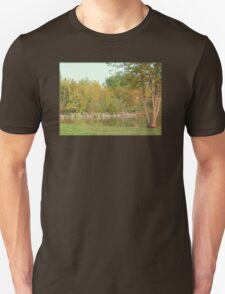 A Tranquil Fall Pond In Michigan Unisex T-Shirt