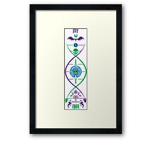 My Haunted Mansion DNA by Topher Adam Framed Print