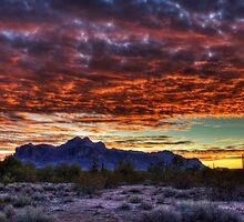 Red Skies Sunrise  by Saija  Lehtonen