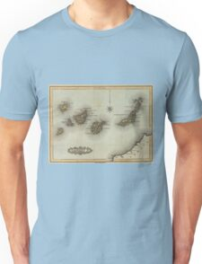 Vintage Map of The Canary Islands (1823) Unisex T-Shirt