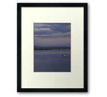 White Boat  Sunset- Burtonport - Donegal -  Ireland Framed Print