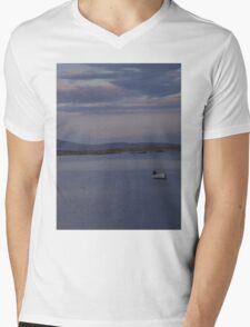 White Boat  Sunset- Burtonport - Donegal -  Ireland Mens V-Neck T-Shirt