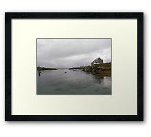 Blue Boat - Rutland Island - Donegal -  Ireland Framed Print