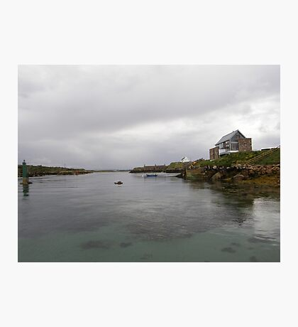 Blue Boat - Rutland Island - Donegal -  Ireland Photographic Print
