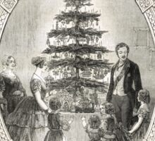 Victoria & Albert & Christmas Tree 1848 Sticker