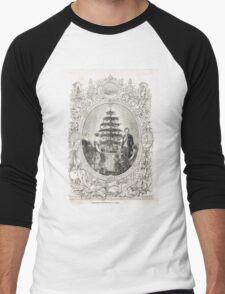 Victoria & Albert & Christmas Tree 1848 Men's Baseball ¾ T-Shirt