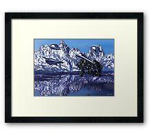 Metal Desert Planet Framed Print