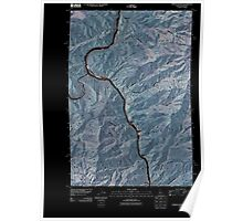 USGS Topo Map Indiana ID Limekiln Rapids 20110429 TM Inverted Poster