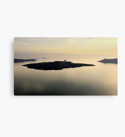 Santorini Reflections - Thira, Santorini Canvas Print