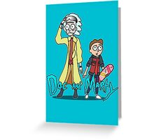 Doc and Marty Greeting Card
