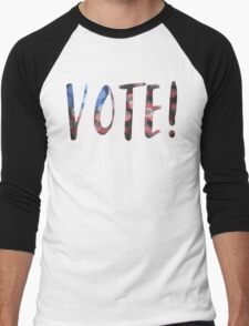 vote! bokeh Men's Baseball ¾ T-Shirt