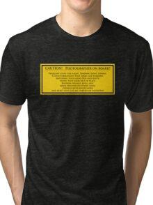 Photographer On Board Tri-blend T-Shirt