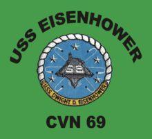 USS Dwight D. Eisenhower (CVN-69) Crest Kids Tee