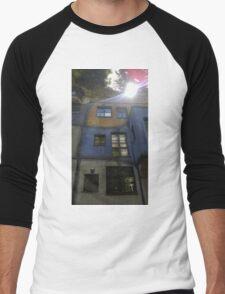 Hundertwasserhaus Vienna, Austria Men's Baseball ¾ T-Shirt