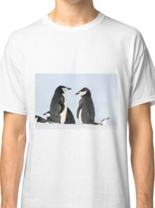 Chinstrap penguins (Pygoscelis antarctica). These birds feed almost exclusively on krill.  Classic T-Shirt