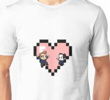 """Love in 8-bit"": Jeff and Annie (Style C) Unisex T-Shirt"