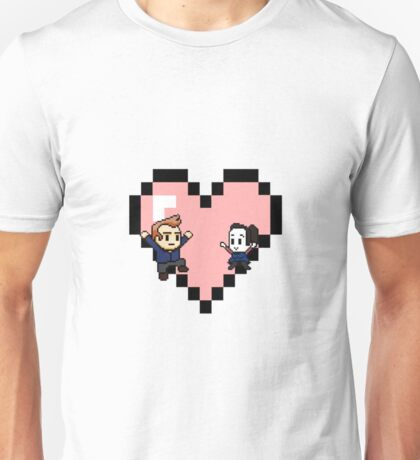 """""""Love in 8-bit"""": Jeff and Annie (Style C) Unisex T-Shirt"""
