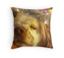 Sleeping angel - cocker spaniel Throw Pillow