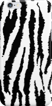 Neon Zebra in Black and White by yonni