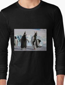 Gentoo penguins (Pygoscelis papua). Antarctica Long Sleeve T-Shirt
