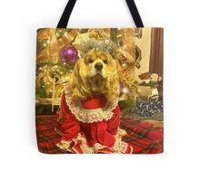 Maggie Pooh Bear at Christmas Tote Bag