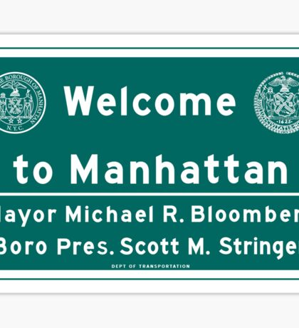 Welcome to Manhattan Sign Sticker