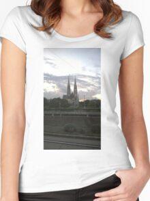 Votive Church, Vienna Women's Fitted Scoop T-Shirt