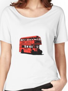 Vintage Red Double Decker London Bus Women's Relaxed Fit T-Shirt