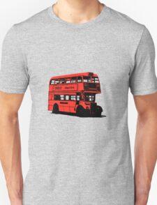 Vintage Red Double Decker London Bus Unisex T-Shirt