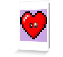 """Love in 8-bit"": Britta and Troy (Style A) Greeting Card"