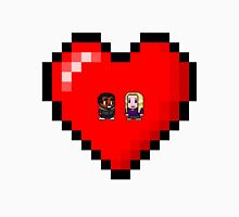 """""""Love in 8-bit"""": Britta and Troy (Style A) Unisex T-Shirt"""