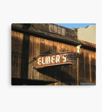 """"""" Elmer's Old Time Saloon """"  The Real Deal Canvas Print"""