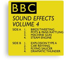 BBC Sound Effects Volume 4 Canvas Print
